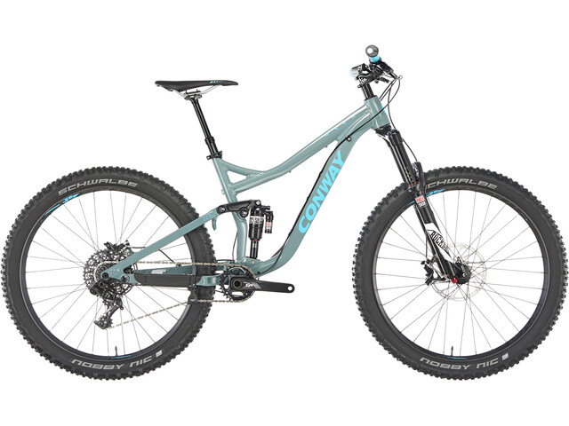 Conway WME 727 Plus Alu MTB Fullsuspension grå/blå
